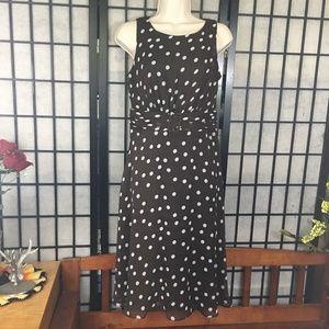 MSK brown dotted scoop halter  dress size 4